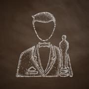 Actor icon Stock Illustration