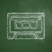 audiocassette icon - stock illustration