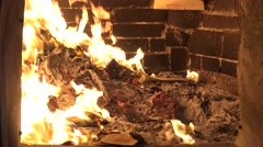 4k, Burning Joss paper in asiatic templo is common in Asian religious-Dan - stock footage