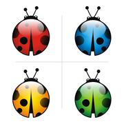 logo bugs vector icon animal pets insect - stock illustration
