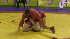 Youth Sambo competitions - stock footage