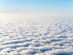 Aerial view of stratocumulus clouds - stock photo