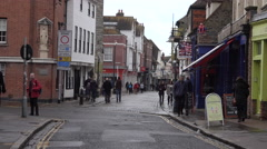 Canterbury England town center business taxi 4K Stock Footage