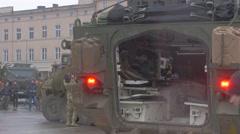 Military Equipment Atlantic Resolve Operation Poland Opole, U.s. Military Stock Footage