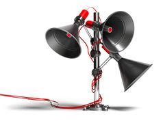 communication speaker - stock illustration