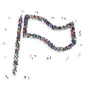 People  shape  flag icon Stock Illustration