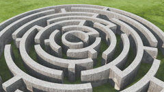 4k rotating stone maze. Stock Footage