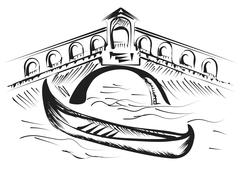 Stock Illustration of venice gondola