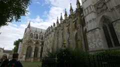 Westminster Abbey seen from Victoria Street in London Stock Footage