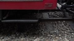 4k, The wheels of the Alishan Forest Railway through the rail-Dan Stock Footage