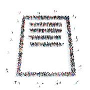 people questionnaire icon - stock illustration
