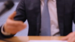 Press conference , business meeting journalism concept - stock footage