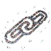 People   chain link icon Stock Illustration
