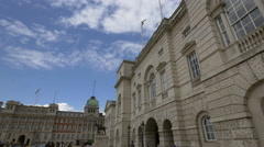 Admiralty House in the House Guards Parade in London Stock Footage