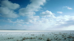 Cloudy Sky over the Prairie in Kazakhstan Stock Footage
