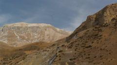 Mountain View of Fiagdon Clove, Caucasus Stock Footage