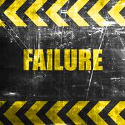 Failure sign with some smooth lines - stock illustration