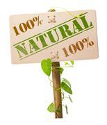 green natural and bio sign - stock photo