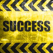 Success sign with smooth lines Stock Illustration