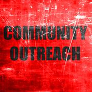 Community outreach sign Stock Illustration