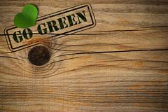 Eco friendly background - go green Stock Photos