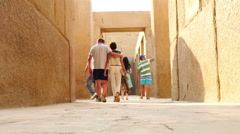 Tourists at the Entrance to the Sphinx  - Egypt - stock footage