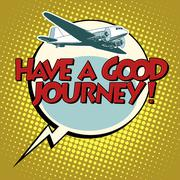 Have a good journey flight plane Stock Illustration