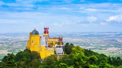 Pena National Palace in Sintra, Portugal Stock Footage