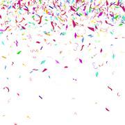 Abstract colorful confetti background. Isolated on the white. Stock Illustration