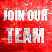 Join our team sign - stock illustration