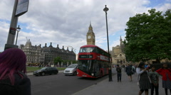 Big Ben seen from Parliament Square in London Stock Footage