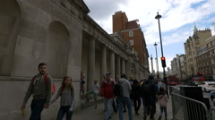 Walking by the Admiralty House in London Stock Footage