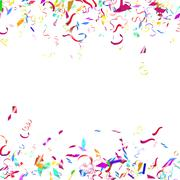 Abstract colorful confetti background. Isolated on the white. - stock illustration