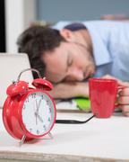 Close-up of alarm-clock Stock Photos