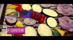 Healthy nutritious food on grill - stock footage