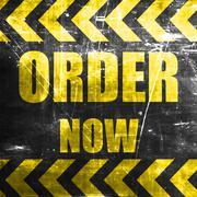 Order now sign Stock Illustration