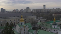 Holy Dormition Kiev-Pechersk Lavra Top Down Taken From a Bell Tower Lamps on a - stock footage