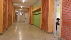 School class hall - stock footage