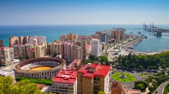 Malaga, Spain skyline. Stock Footage