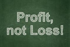 Finance concept: Profit, Not Loss! on chalkboard background - stock illustration