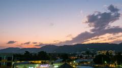 Phuket island buddha mountain sunset to night panorama 4k time lapse thailand Stock Footage
