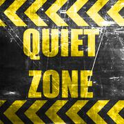 Quiet zone sign - stock illustration