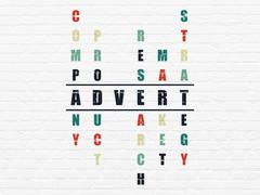 Advertising concept: Advert in Crossword Puzzle - stock illustration