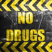 No drugs sign - stock illustration