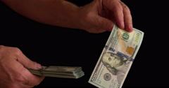 Tricks with Money 4K Stock Footage