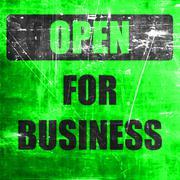 Open for business sign - stock illustration