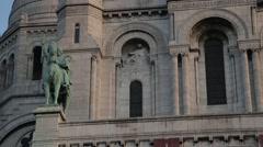La Basilique Sacré-Cœur (Sacre Couer) / Montmartre, Paris, France. Stock Footage