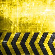 Black and yellow hazard stripes - stock illustration