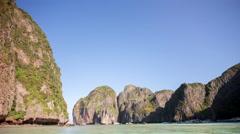 Phuket famous phi phi don island beach tourist boat 4k time lapse thailand Stock Footage
