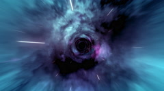 Wormhole straight through time and space, and millions of stars. Stock Footage